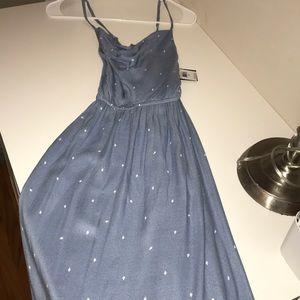 Volcom blue and white dress